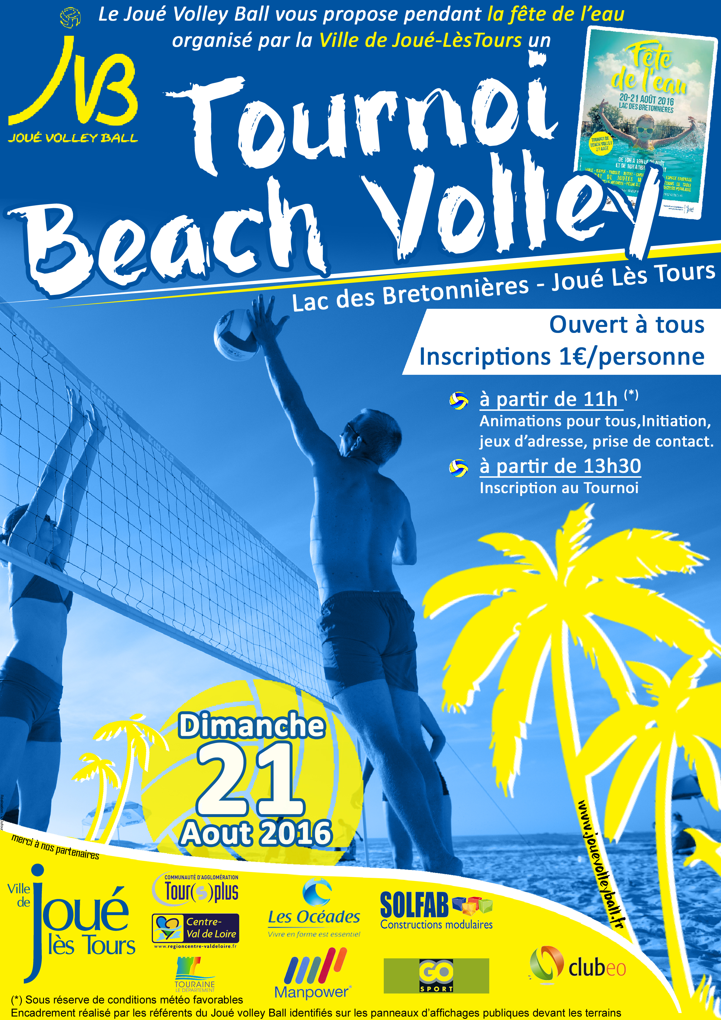 Tournoi de Beach Volley Aout 2016