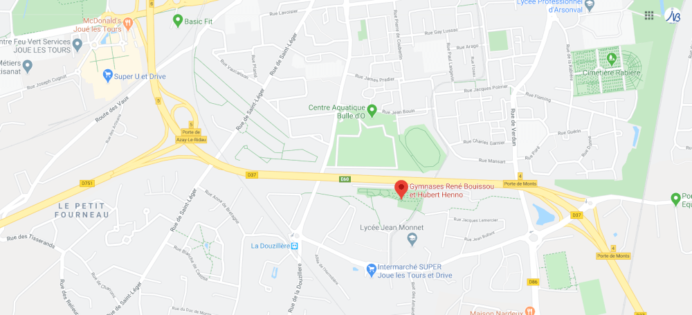 Localisation Gymnase Hubert Henno