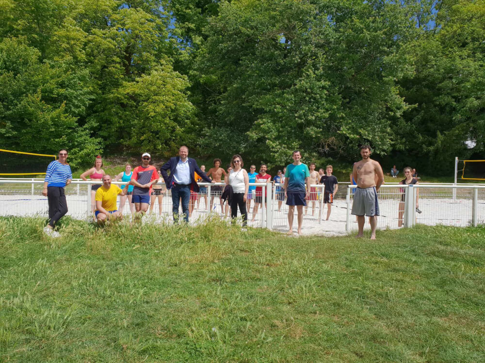 Lancement du Beach-volley